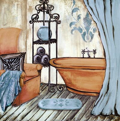 Chateau Bath I Poster by Gina Ritter for $12.50 CAD