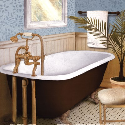 Afternoon Bath I Poster by Elizabeth Medley for $12.50 CAD
