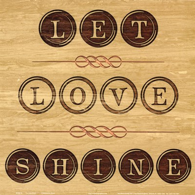 Let Love Shine Poster by Hakimipour - Ritter for $12.50 CAD