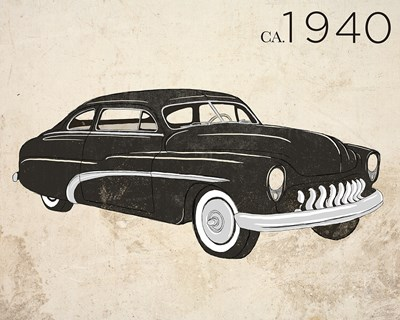 Vintage Coupe Poster by SD Graphics Studio for $17.50 CAD