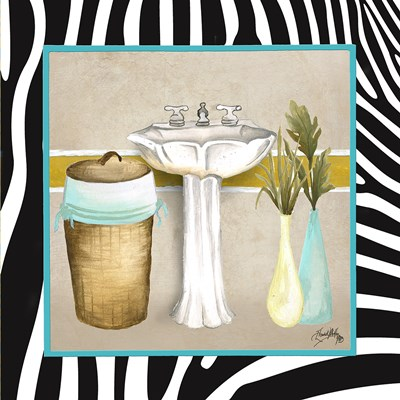 Zebra Bath II Poster by Elizabeth Medley for $12.50 CAD