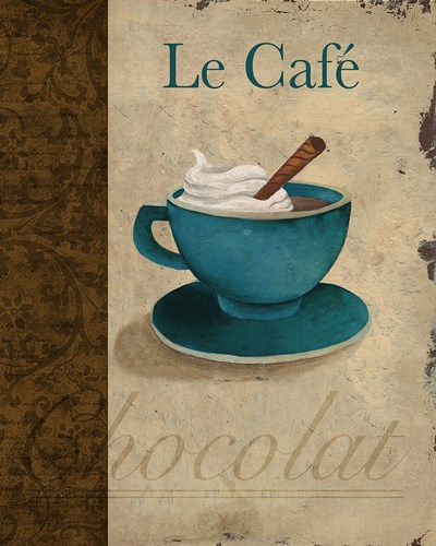 Le Caf? Poster by Elizabeth Medley for $10.00 CAD