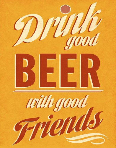 Drink Good Beer Poster by SD Graphics Studio for $17.50 CAD