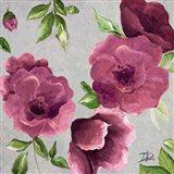 Gray & Plum Florals II