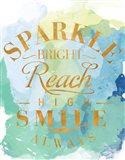 Watercolor Sparkle Shine I