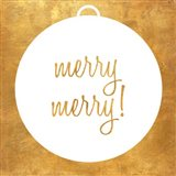 Christmas Ornament II (gold foil)