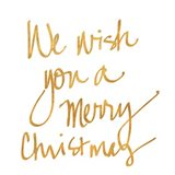 We Wish you a Merry Christmas (gold foil)