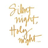 Silent Night (gold foil)