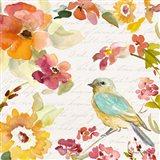 Floral Bird Script I