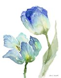 Teal and Lavender Tulips I