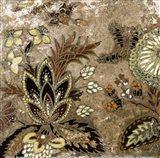European Floral on Beige I