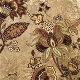 European Floral On Beige II