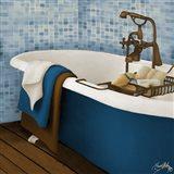 Blue Tile Bath II