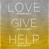 Love, Give, Help (yellow)