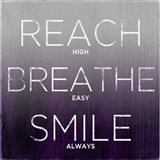 Reach, Breathe, Smile (purple)