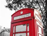 London Phone Booth with Red Pop