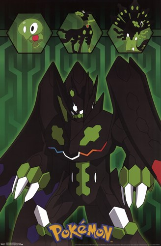 Pokemon - Zygarde Grid Poster by Unknown for $12.50 CAD
