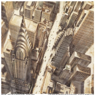 Aerial View of Chrysler Building Poster by Matthew Daniels for $17.50 CAD