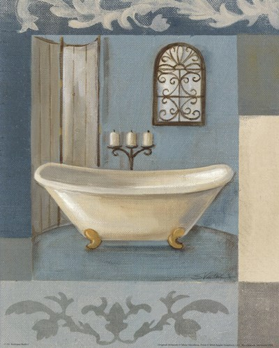 Antique Bath I Poster by Silvia Vassileva for $11.25 CAD