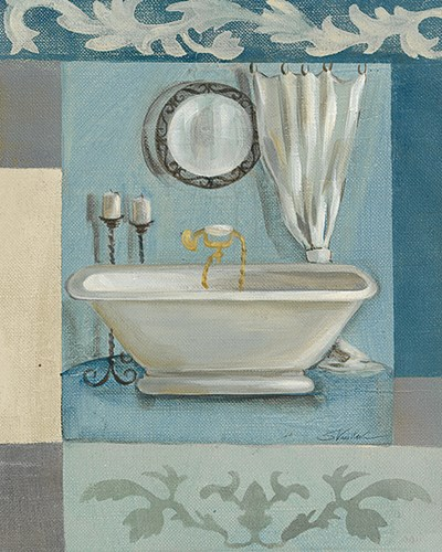 Antique Bath II Poster by Silvia Vassileva for $11.25 CAD