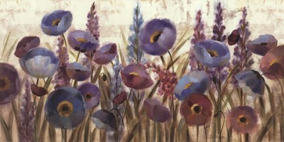 Lupines and Poppies Poster by Silvia Vassileva for $36.25 CAD