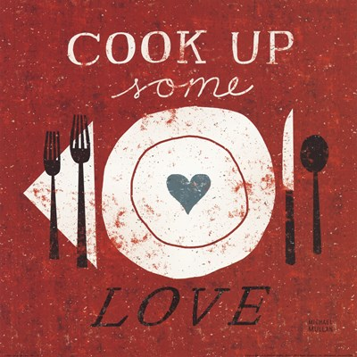 Cook Up Love Poster by Michael Mullan for $15.00 CAD
