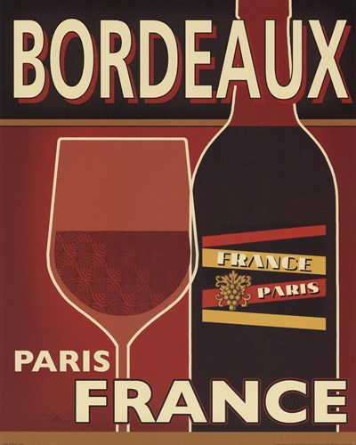 Bordeaux Poster by Pela Studio for $22.50 CAD