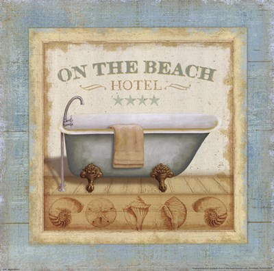 Beach Hotel I Poster by Lisa Audit for $15.00 CAD