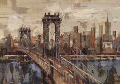 New York View Poster by Silvia Vassileva for $57.50 CAD