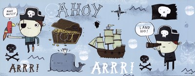 Ahoy Matey I Poster by Mike Lowery for $17.50 CAD