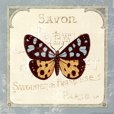 Parisian Butterfly I Poster by Sue Schlabach for $15.00 CAD