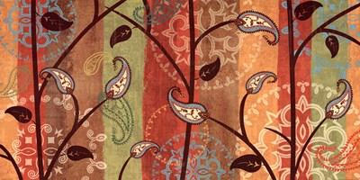 Paisley Garden Poster by Veronique Charron for $36.25 CAD