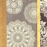Contemporary Lace II - Yellow Grey