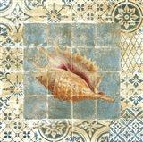 Shell Tiles II Blue