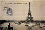 Le Quai d'Orsay et la Tour Eiffel