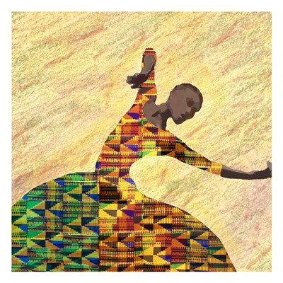 Kente Dancer 1 Art Print by Brown