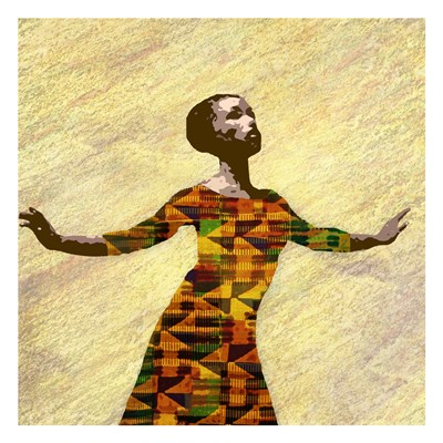 Kente Dancer 2 Art Print by Brown