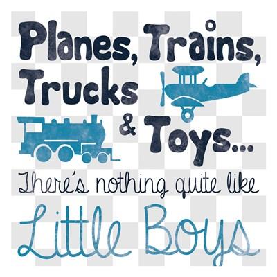 Little Boys Art Print by Gibbons