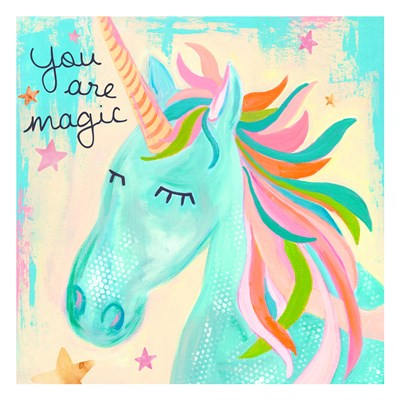 You Are Magic Unicorn Art Print by McCully