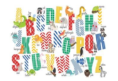 ABCs Animals Art Print by Allen