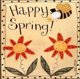 Spring Bumble Bee Art Print