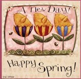 Spring Chick Tulips Art Print