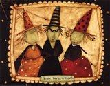 Halloween: Trixie, Dixie and Peach Art Print