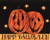 Happy Halloween Pumpkins Art Print
