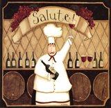 Salute Chef Art Print