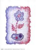 Evelyn - Denim Floral III Art Print