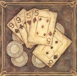 Poker - Nines and Fives Art Print