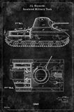Tank1 Black Art Print