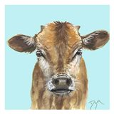 Little Bull Blue Art Print