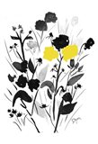 Yellow Silouette I Art Print